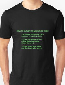 The Rules to Surving an Adventure Game T-Shirt