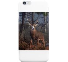 Buck on ridge - White-tailed Deer iPhone Case/Skin