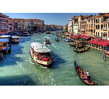 Traffic on the Grand Canal Photographic Print