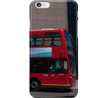 A Red London Bus on London Bridge iPhone Case/Skin