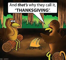 Thanksgiving Cartoon by CGFWill