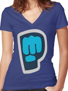 Pewdiepie Women's Fitted V-Neck T-Shirt