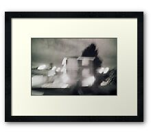 the flats out the back Framed Print