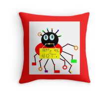 BUGS abstract, MOD decor, PRIMARY color Throw Pillow