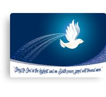 Peace Dove Christmas Card - Scripture Canvas Print