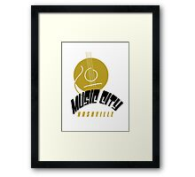 Music City Nashville Framed Print