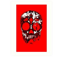 Day of the Dead Sugar Skull Grunge Design Art Print