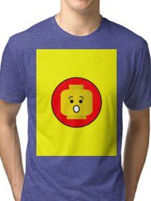 MINIFIG SHOCKED FACE  Tri-blend T-Shirt