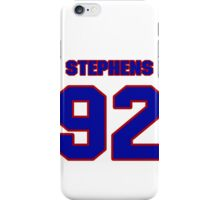 National football player Hal Stephens jersey 92 iPhone Case/Skin