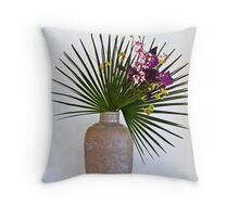 Ikebana-048 Throw Pillow