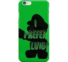I prefer Luigi bros iPhone Case/Skin