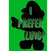 I prefer Luigi bros Photographic Print