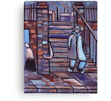 The steps (from my original acrylic painting) Canvas Print