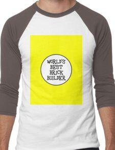WORLD'S BEST BRICK BUILDER  Men's Baseball ¾ T-Shirt