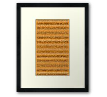 A few decimals Framed Print