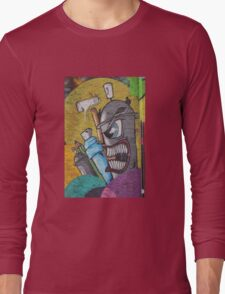Angry cartoon street art guy, Cork Long Sleeve T-Shirt