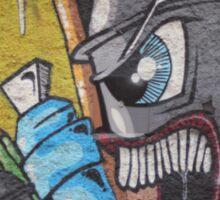 Angry cartoon street art guy, Cork Sticker