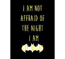 Batman affraid night dark Photographic Print