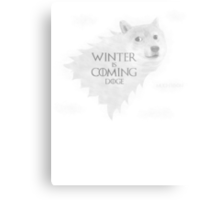 House Doge - Winter Is Coming Metal Print