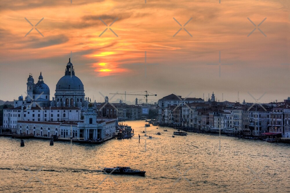 Grand Canal Sunset by Tom Gomez