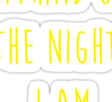 Batman affraid night light Sticker