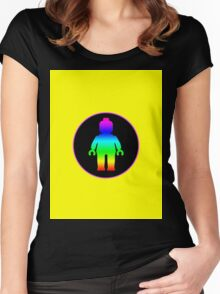 MINIFIG RAINBOW  Women's Fitted Scoop T-Shirt