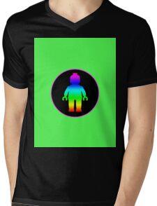 MINIFIG RAINBOW Mens V-Neck T-Shirt