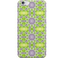 Green, Purple and Gold Abstract Design Pattern iPhone Case/Skin