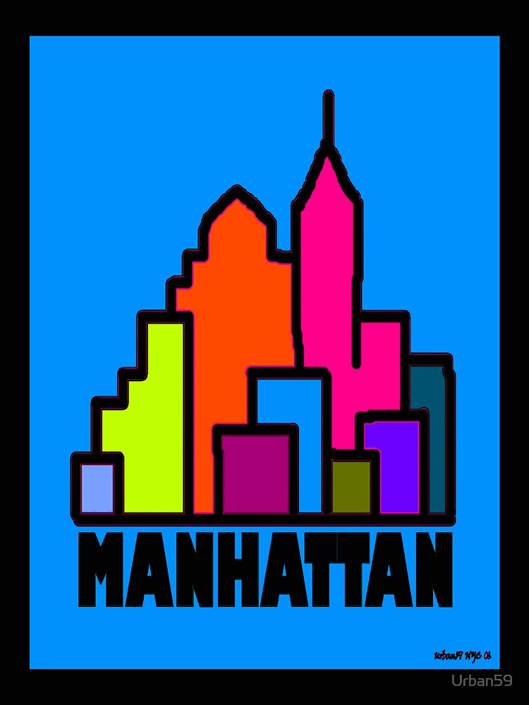 """Manhattan Colors"" by NYC Artist Alexander Aristotle by Urban59"