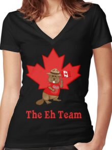 Eh Team Women's Fitted V-Neck T-Shirt
