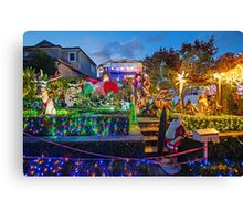 Light Up Lane Cove for Christmas Canvas Print