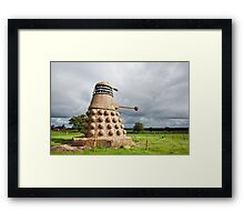 Dalek made from Straw Framed Print