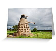 Dalek made from Straw Greeting Card