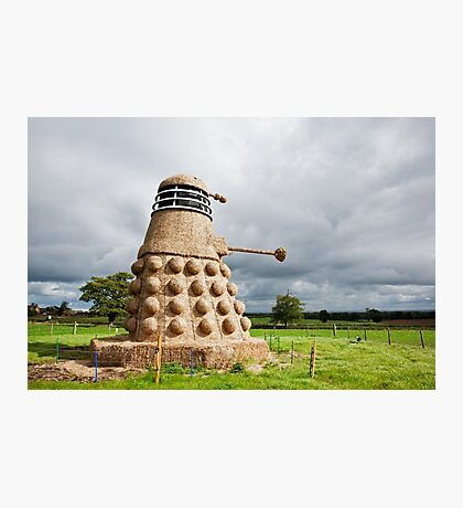 Dalek made from Straw Photographic Print
