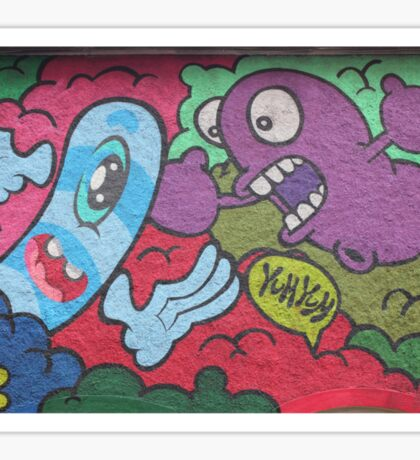 Cork, Ireland street art cartoon guy St. Patrick Street Sticker