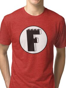 THE LETTER F Tri-blend T-Shirt