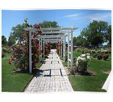 Arbor...Luby Park Rose Garden, Caldwell, Idaho Poster