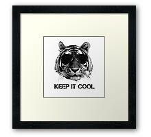Keep it cool tiger Framed Print