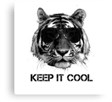 Keep it cool tiger Canvas Print