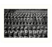 Small Buddha Statues  Art Print