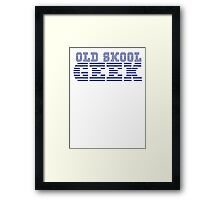 OLD SKOOL ibm GEEK Framed Print