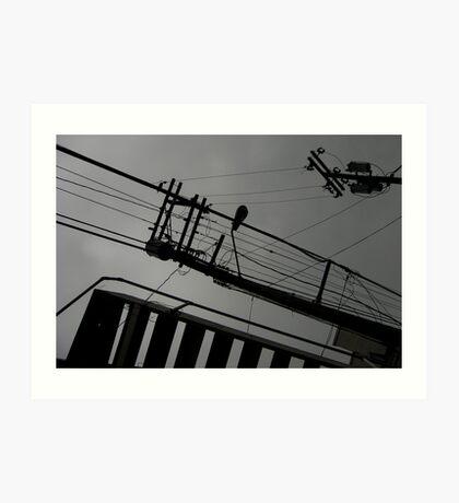 comunication abstraction Art Print
