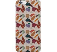 A Homage to Root Vegetables Pattern iPhone Case/Skin