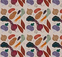 A Homage to Root Vegetables Pattern by apcomfort