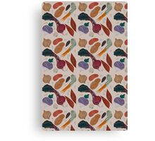 A Homage to Root Vegetables Pattern Canvas Print