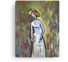 The faceless woman (from my original acrylic painting) Canvas Print