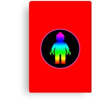 MINIFIG RAINBOW  Canvas Print