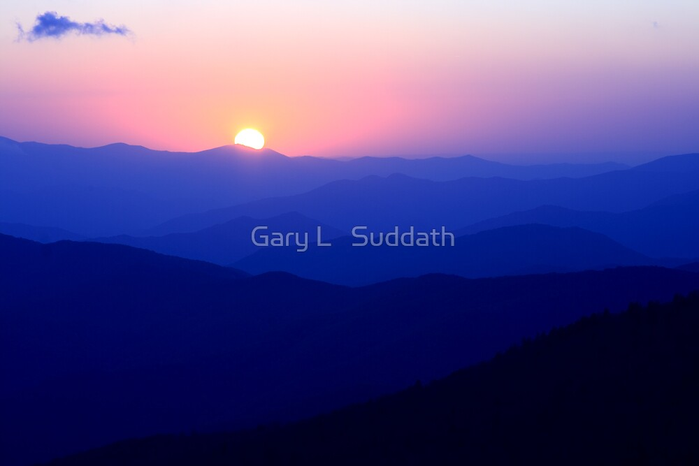 Mountain Sunset by Gary L   Suddath
