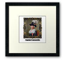 Captain Transvestite Framed Print