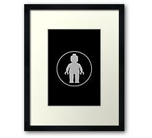 MINIFIG GREY Framed Print